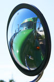 Wing mirror reflection Stock Images