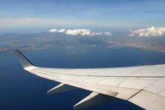 Wing over Palma Royalty Free Stock Photos