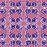 Wing patterns in purple colors. Seamless abstract background. Repeating wings in mirror position. Stock Photo