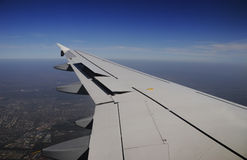 Wing of the plane Royalty Free Stock Photography