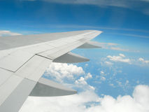 Wing of plane. Plane wing Stock Image