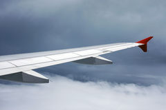 Wing of the plane Stock Photography