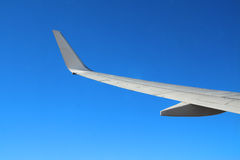 Wing of a plane Royalty Free Stock Photography