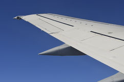 Wing of a plane Royalty Free Stock Photo