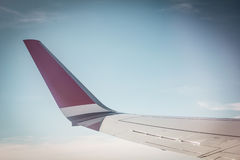 Wing of plane Royalty Free Stock Images
