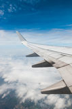 Wing of the plane Royalty Free Stock Images