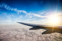 Wing of the plane Royalty Free Stock Image