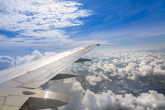 Wing of plane Royalty Free Stock Photography