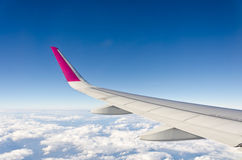 Wing of Plane Stock Image