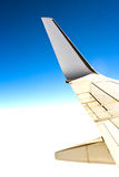 Wing plane in the sky Royalty Free Stock Images