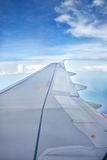 Wing of plane Stock Photos