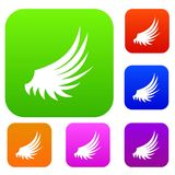 Wing set collection. Wing set icon in different colors isolated vector illustration. Premium collection Royalty Free Stock Image