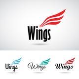 Wing Shape Logo Icon variopinto Fotografie Stock