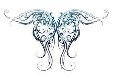 Wing shape tattoo Royalty Free Stock Photography