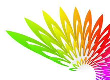Wing-shaped colorful geometric abstract Royalty Free Stock Photography