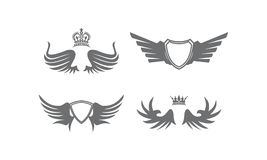 Wing Shield Crown Collection Stock Image