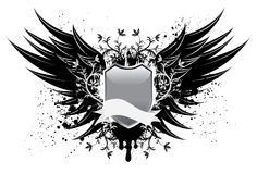 Wing and Shield Design Royalty Free Stock Images
