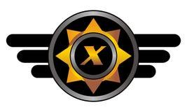 Wing Star Letter X illustration de vecteur