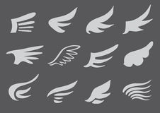 Wing Symbol Vector Design Set Stock Photos