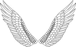 Wing tattoo Royalty Free Stock Photography