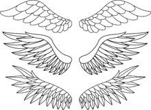 Wing tattoo Stock Images