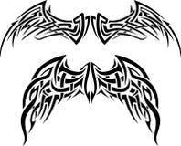 Wing Tattoo abstracto Imagenes de archivo