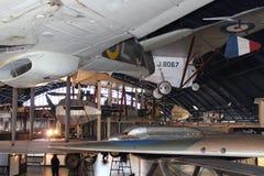 Wing of transportation plane stock image