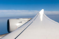 Wing and turbine of an aircraft Stock Image