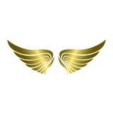 Wing Vector dorato di lusso immagine stock