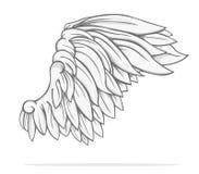 Wing Vector-ontwerp Royalty-vrije Stock Foto's