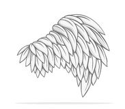 Wing Vector-ontwerp Royalty-vrije Stock Foto