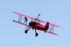 Wing walker. Airshow Royalty Free Stock Photography