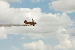 Wing Walker on Biplane Stock Photo