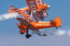 Wing Walkers na ação foto de stock royalty free