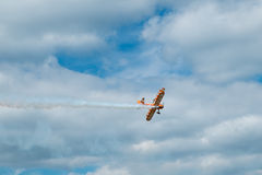 Wing walking display at the Red Bull Air Race. Stock Image