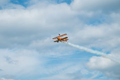 Wing walking display at the Red Bull Air Race. Stock Photography