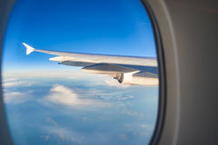 Wing with winglet. View of left wing with winglet Royalty Free Stock Photo