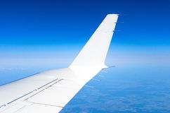 Wing and winglets flying in the sky Royalty Free Stock Photography