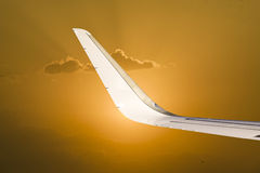 Wing and wingtip device Royalty Free Stock Photos
