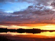 Wingagami sjö Royaltyfria Bilder