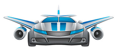 Winged Auto Lizenzfreie Stockfotos