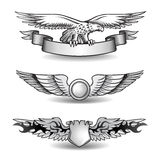 Winged Awards Set with Eagle Stock Photos