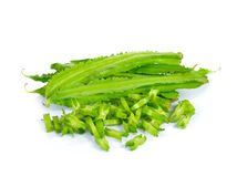 Winged Beans on white background Stock Photos