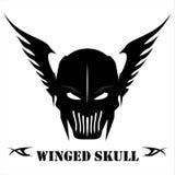 Winged Black Skull vector illustration