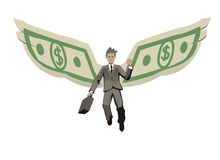 Winged businessman Royalty Free Stock Images
