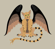 Winged cat Royalty Free Stock Photos
