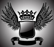 Winged Coat of Arms Stock Images