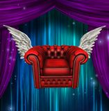Winged comfort chair royalty free illustration