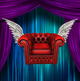 Winged comfort chair Stock Photography