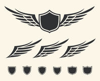 Winged crest Royalty Free Stock Images